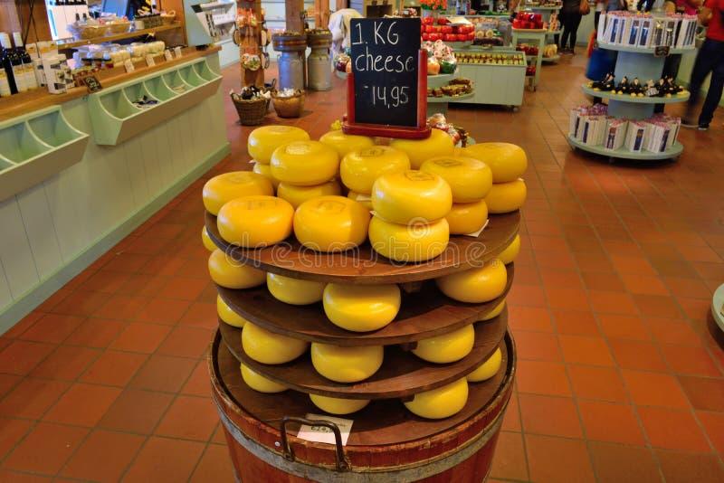 阿姆斯特丹乳酪圆的价格荷兰 免版税库存照片