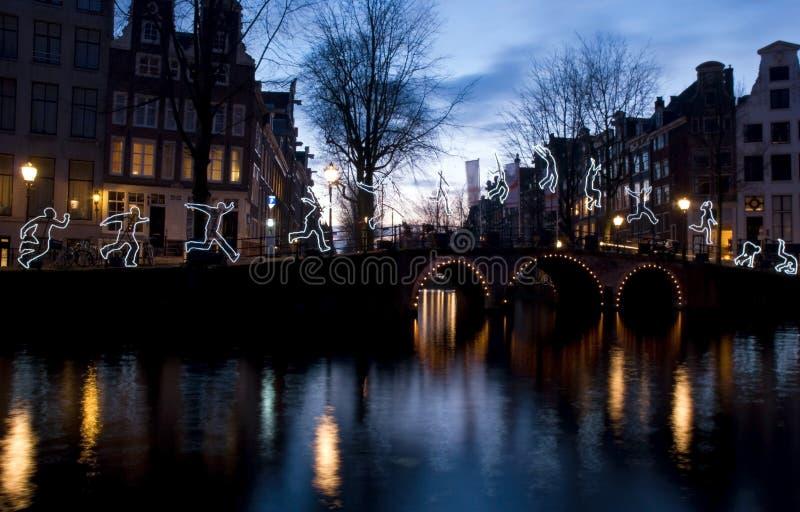 阿姆斯特丹光节日2016年 免版税库存图片