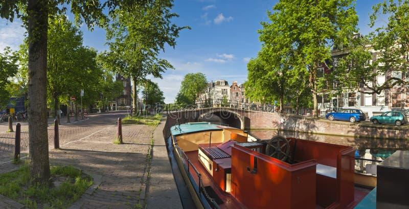 阿姆斯特丹反射,荷兰 免版税库存图片