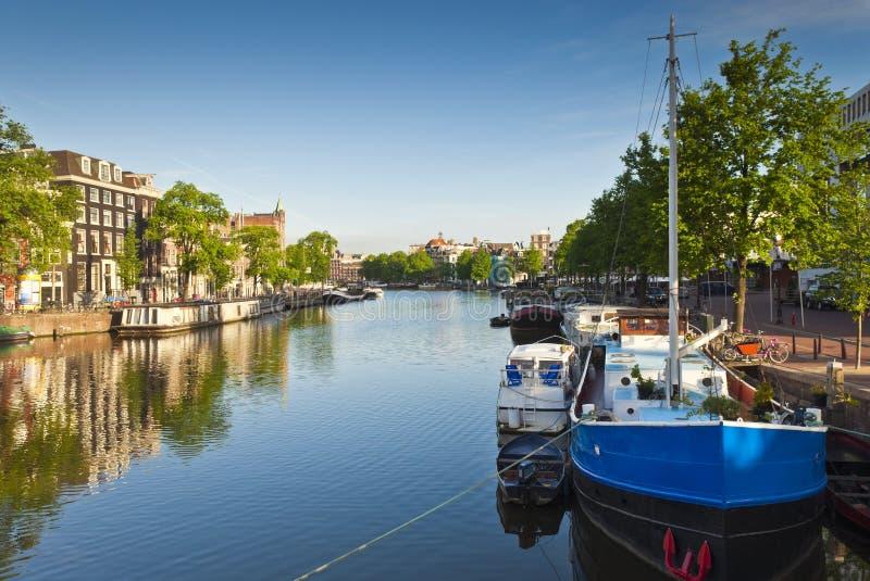 阿姆斯特丹反射,荷兰 免版税图库摄影