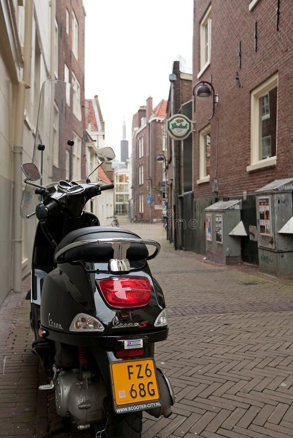 阿姆斯特丹巷道 免版税库存照片