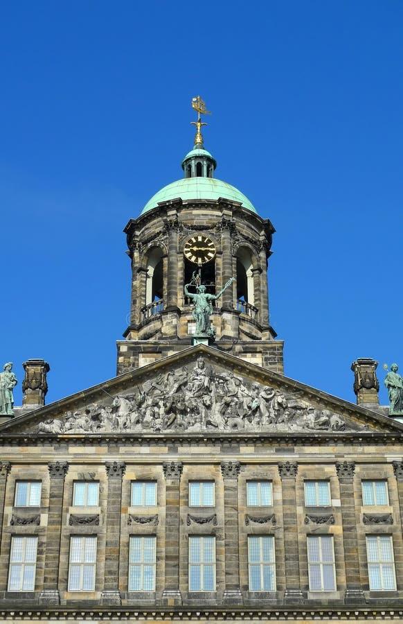 阿姆斯特丹时钟宫殿皇家塔 免版税库存图片