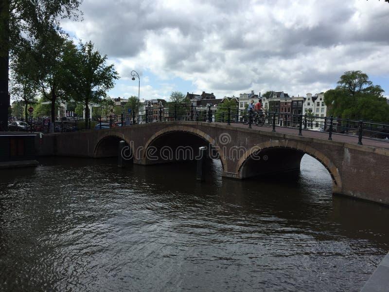 阿姆斯特丹河 库存照片
