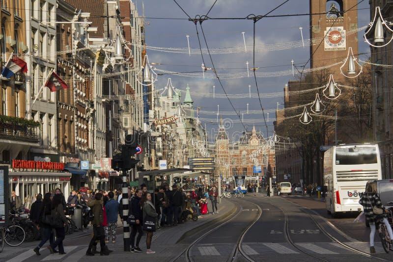 阿姆斯特丹火车站,荷兰 免版税库存照片