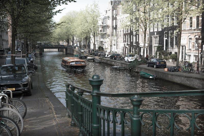 阿姆斯特丹爱之船 免版税库存照片