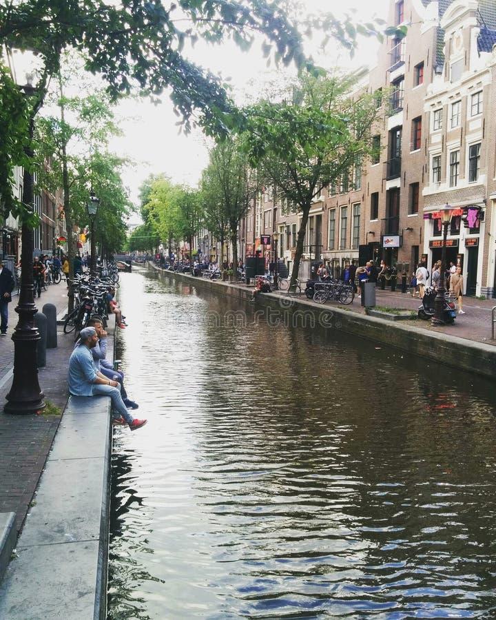 阿姆斯特丹的红灯区 图库摄影