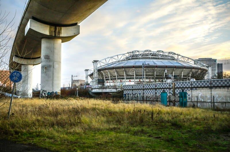 阿姆斯特丹竞技场体育场,最大的体育场在荷兰 AFC的阿贾克斯和荷兰国家队家庭体育场 库存照片