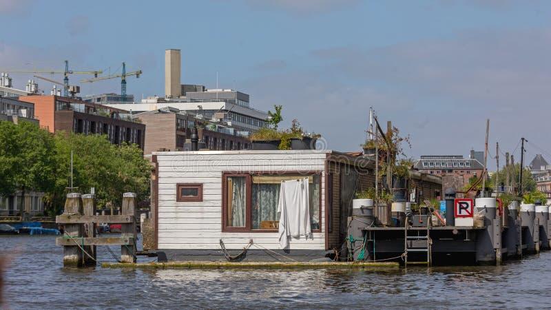 阿姆斯特丹船屋 库存照片