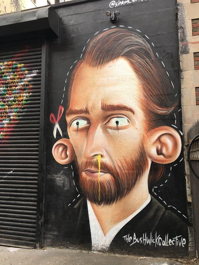 阿姆斯特丹艺术面孔标记街道艺术 免版税库存照片
