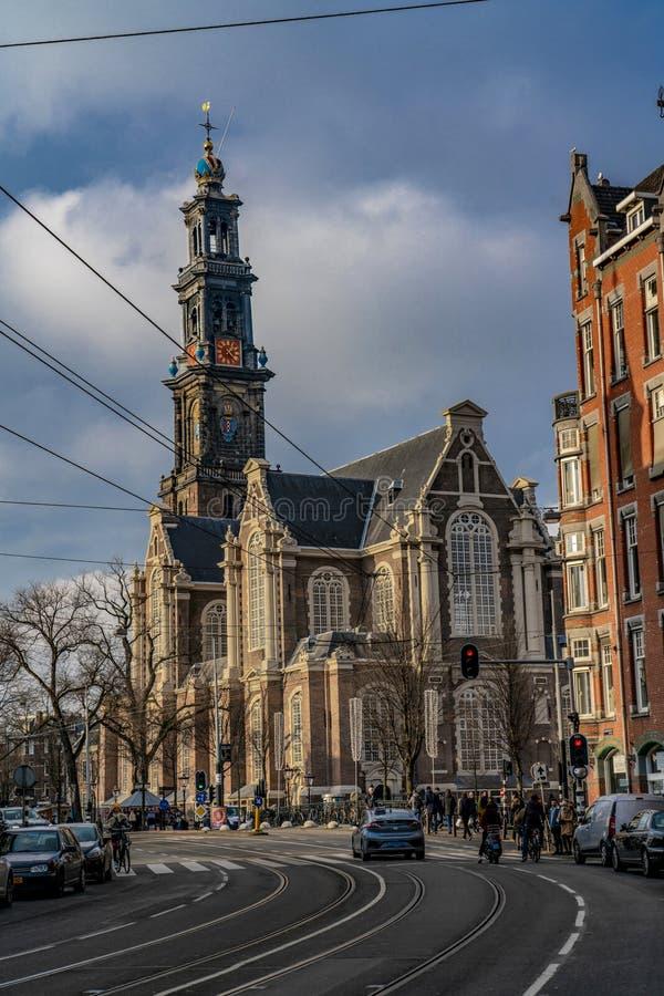 阿姆斯特丹荷兰教会Westerkerk 库存图片