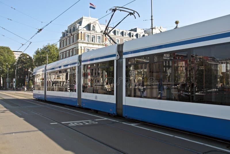 阿姆斯特丹荷兰电车 免版税库存图片