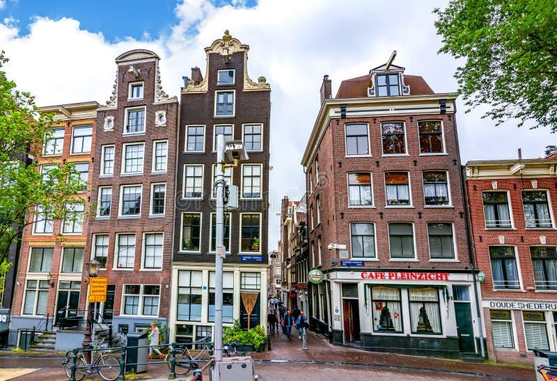 阿姆斯特丹街道和建筑学,荷兰 库存照片