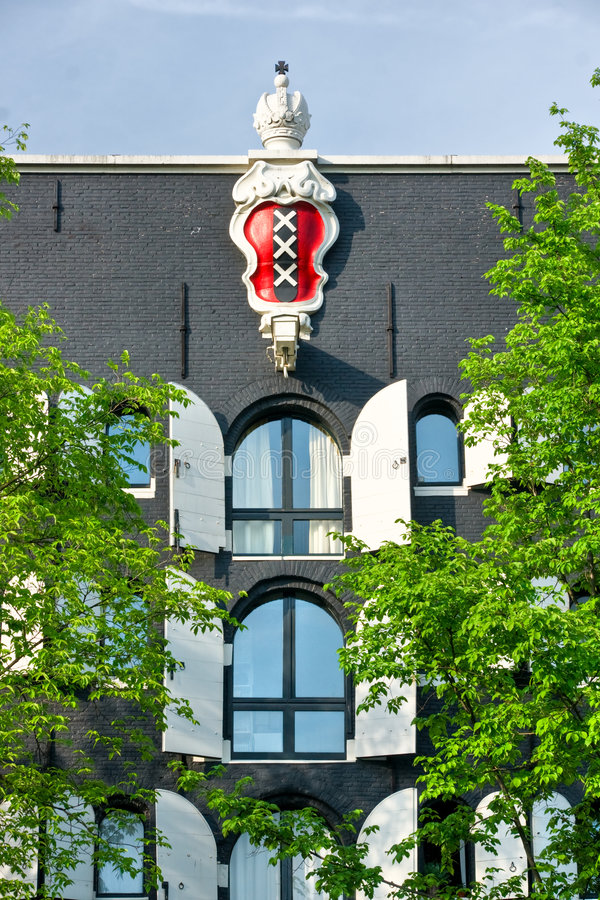 阿姆斯特丹象征宫殿 库存照片