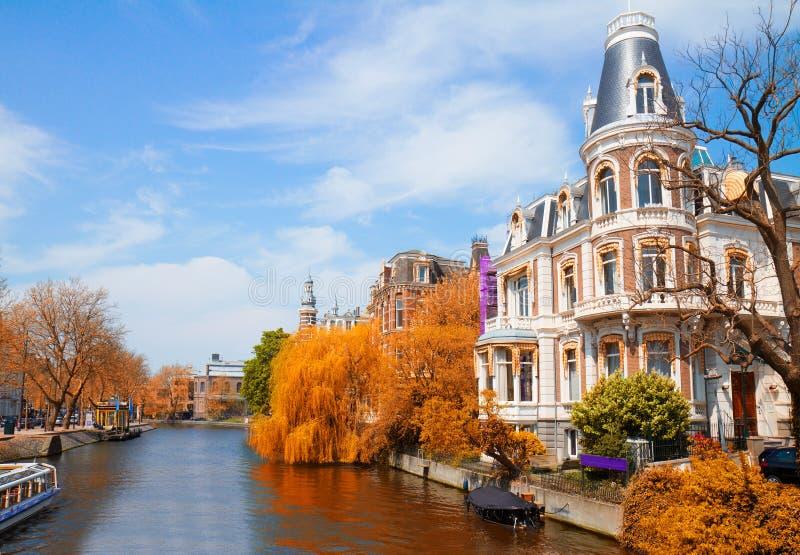 阿姆斯特丹运河一 库存图片