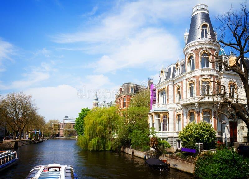 阿姆斯特丹运河一 免版税库存图片