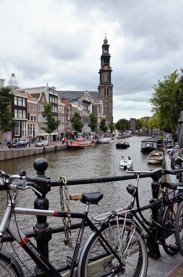 阿姆斯特丹运河 免版税库存照片