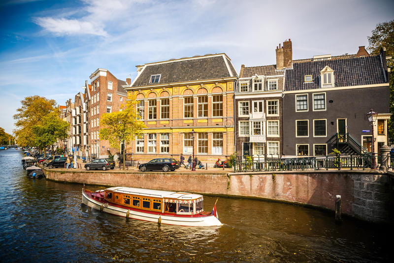 阿姆斯特丹都市风景 免版税图库摄影