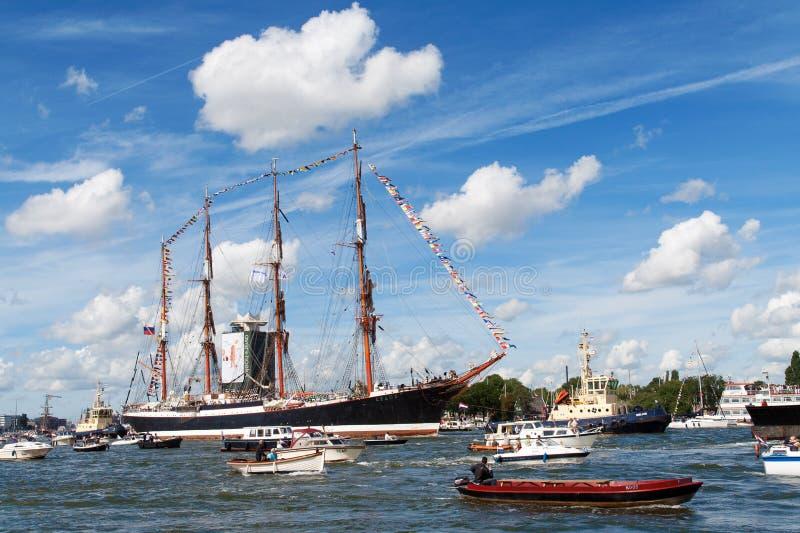 阿姆斯特丹风帆 库存照片