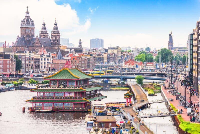 阿姆斯特丹鸟瞰图  库存图片