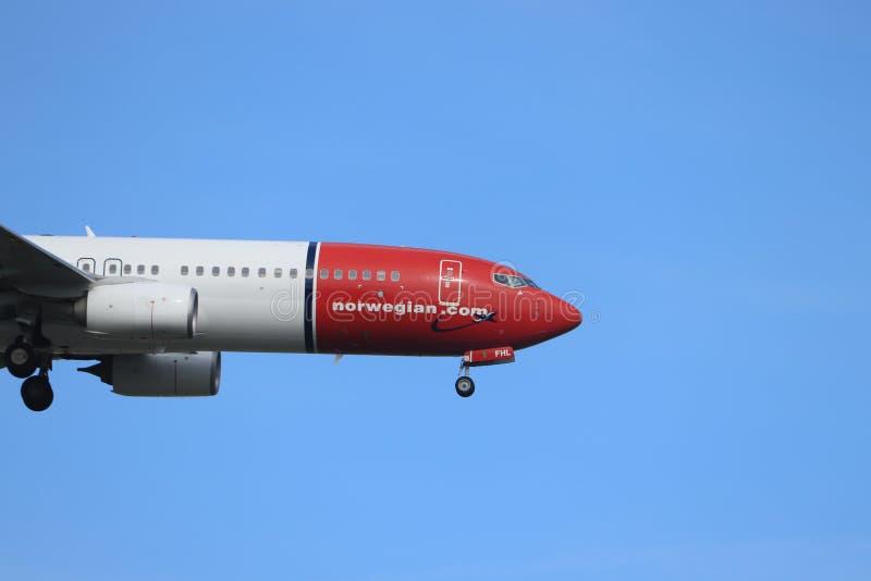 阿姆斯特丹,荷兰- 2019年5月30日:EI-FHL挪威空气国际波音737-800 库存照片