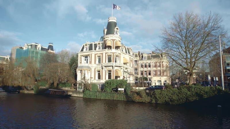 阿姆斯特丹,荷兰- 2017年12月26日 地图集Fiscalisten或税法企业总部 免版税库存图片
