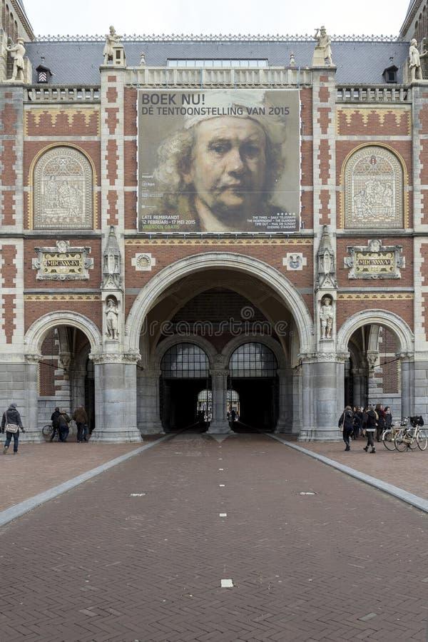 阿姆斯特丹,荷兰- 2月08 :Rijksmuseum的访客 库存照片