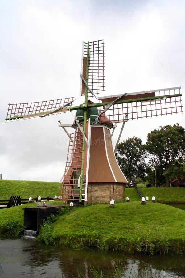 阿姆斯特丹(NL) -风车 库存图片