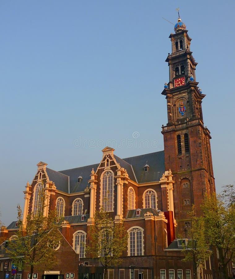 阿姆斯特丹westerkerk 库存照片