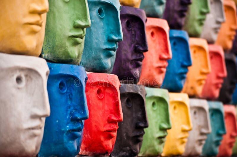 阿威罗面对葡萄牙雕塑 库存图片