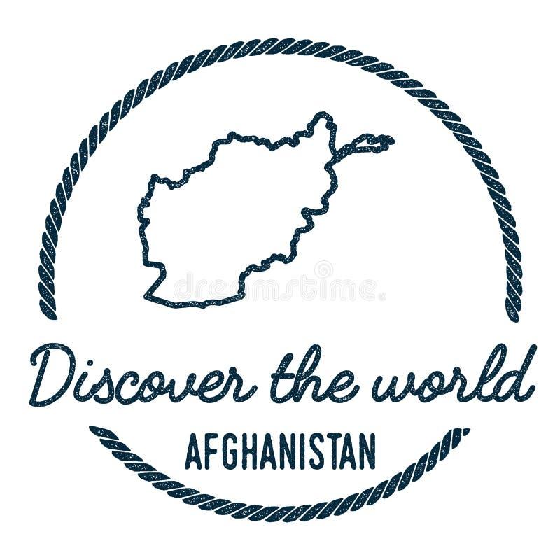 阿富汗地图概述 葡萄酒发现 库存例证