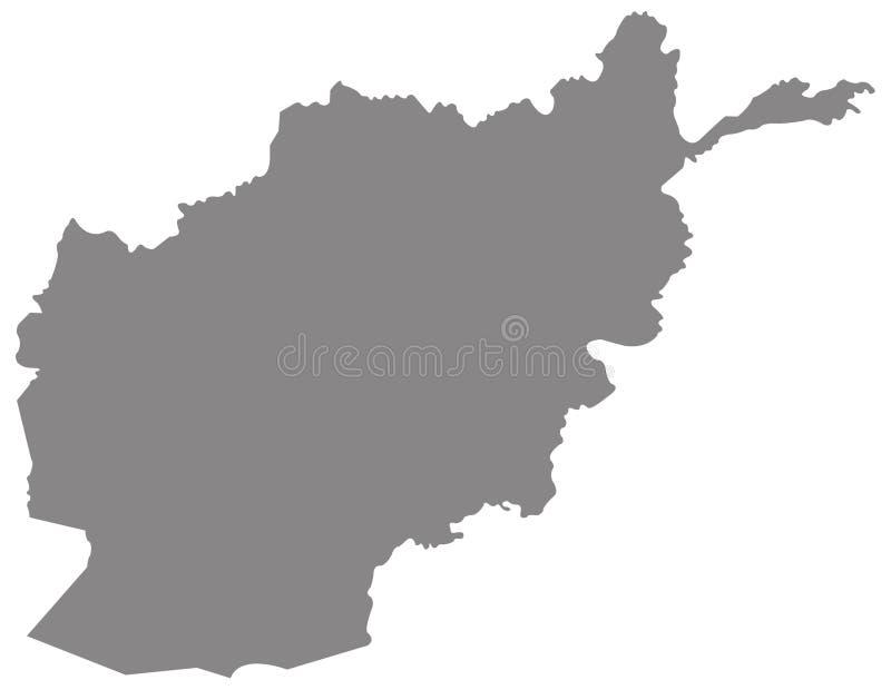 阿富汗地图-阿富汗,国家的伊朗伊斯兰共和国位于在中南部的亚洲 库存例证
