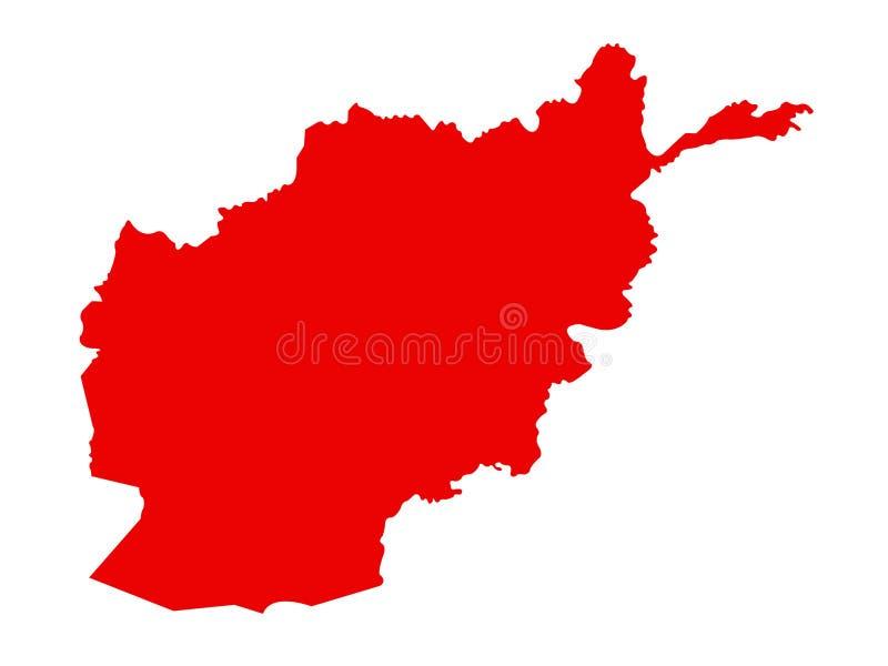 阿富汗地图-阿富汗,国家的伊朗伊斯兰共和国位于在中南部的亚洲 皇族释放例证