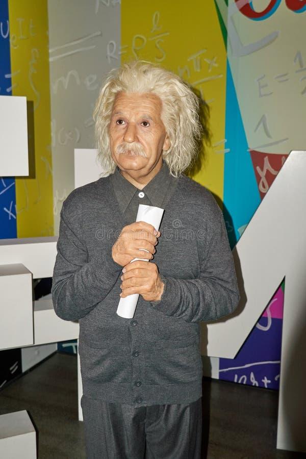 阿尔伯特・爱因斯坦,著名物理学家蜡象  库存图片