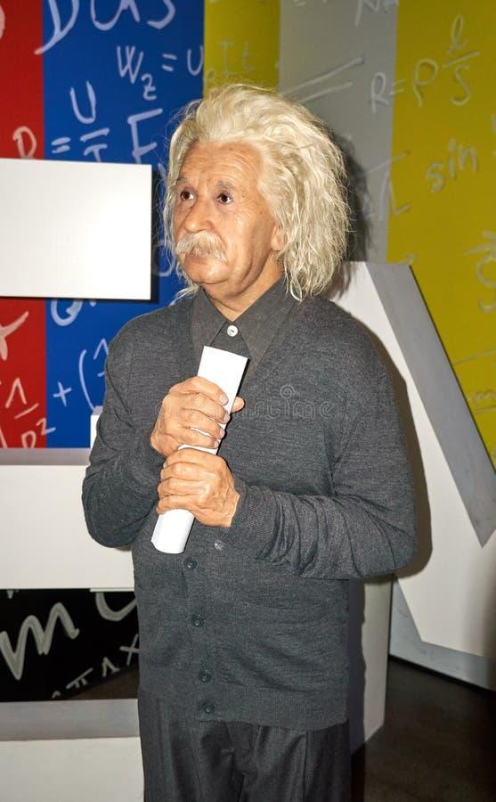 阿尔伯特・爱因斯坦,著名物理学家蜡象  免版税库存照片