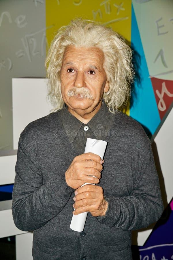阿尔伯特・爱因斯坦,著名物理学家蜡象  免版税库存图片