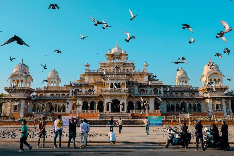 阿尔伯特博物馆霍尔,斋浦尔在Rajathan 印度 库存图片
