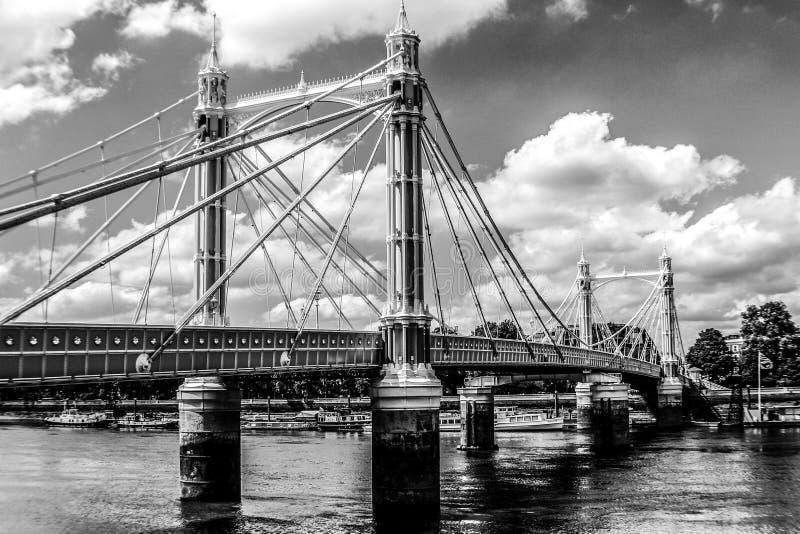 阿尔伯特桥梁伦敦 免版税图库摄影