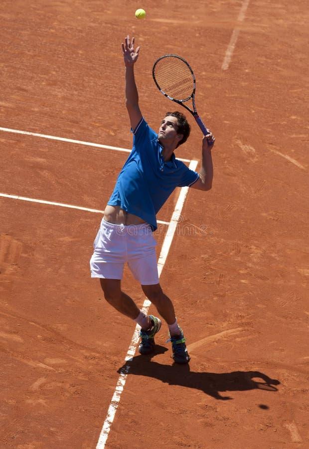 阿尔伯特球员洛梅西班牙语网球 免版税图库摄影