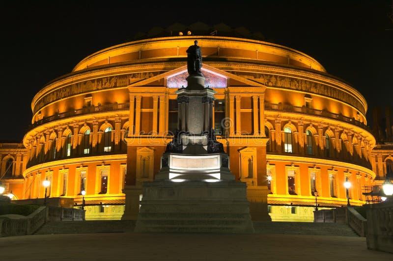阿尔伯特皇家大厅的晚上 库存照片