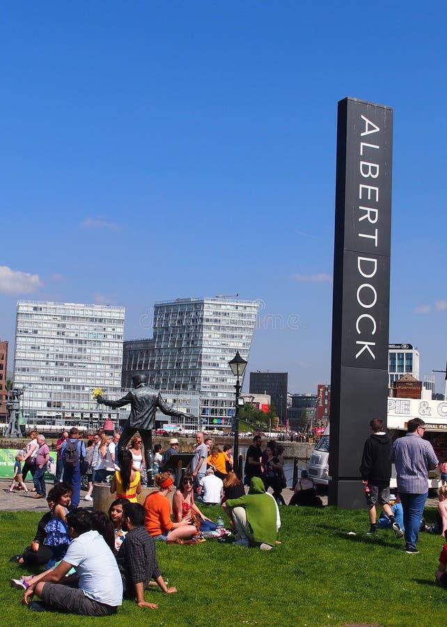 阿尔伯特码头英国利物浦 免版税库存图片
