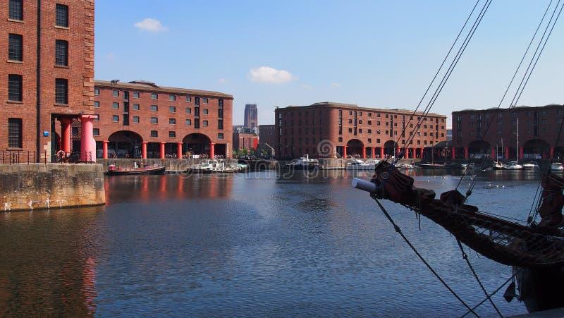 阿尔伯特码头英国利物浦 库存图片