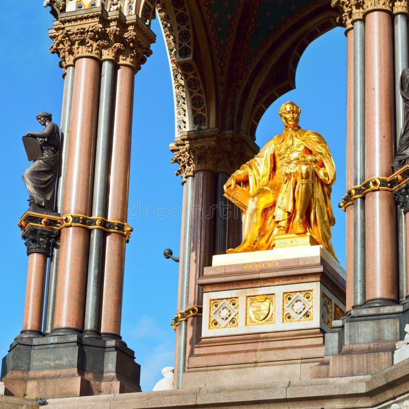 阿尔伯特纪念品在伦敦 免版税库存图片