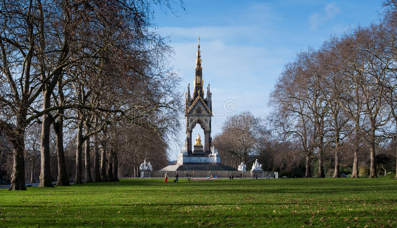 阿尔伯特纪念品在海德公园,伦敦,英国 免版税库存图片
