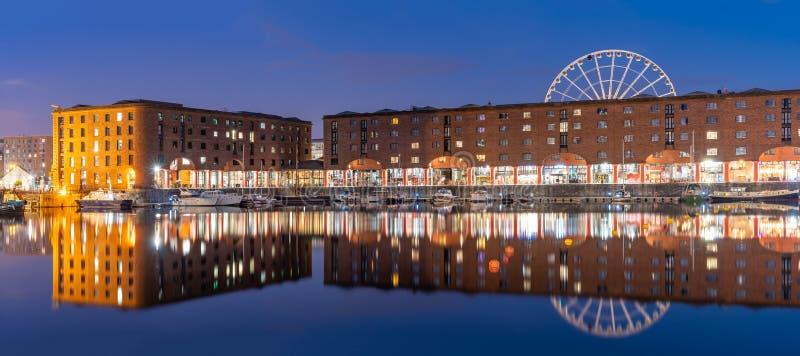 阿尔伯特船坞利物浦英国 库存照片