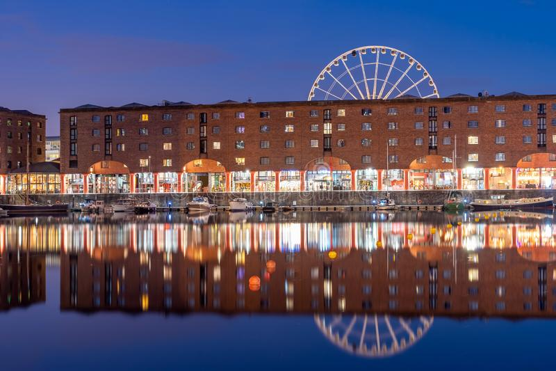 阿尔伯特船坞利物浦英国 图库摄影
