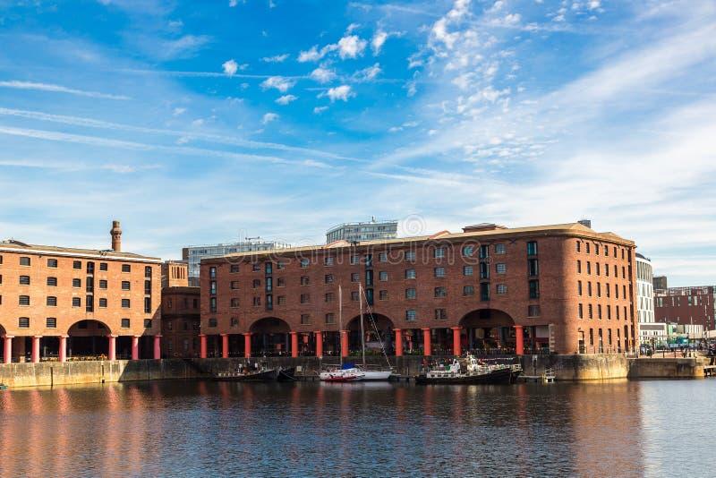 阿尔伯特船坞在利物浦 免版税库存图片