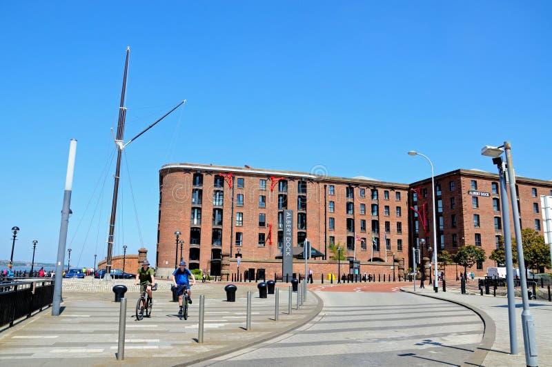 阿尔伯特船坞江边,利物浦 免版税库存图片