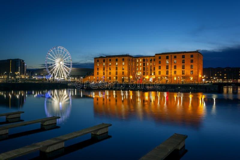 阿尔伯特船坞,利物浦英国 库存照片