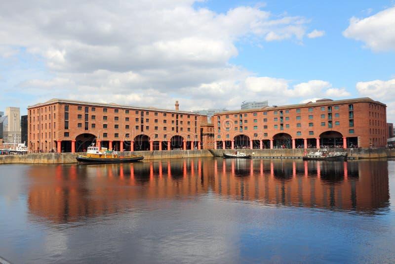 阿尔伯特船坞,利物浦 免版税库存图片