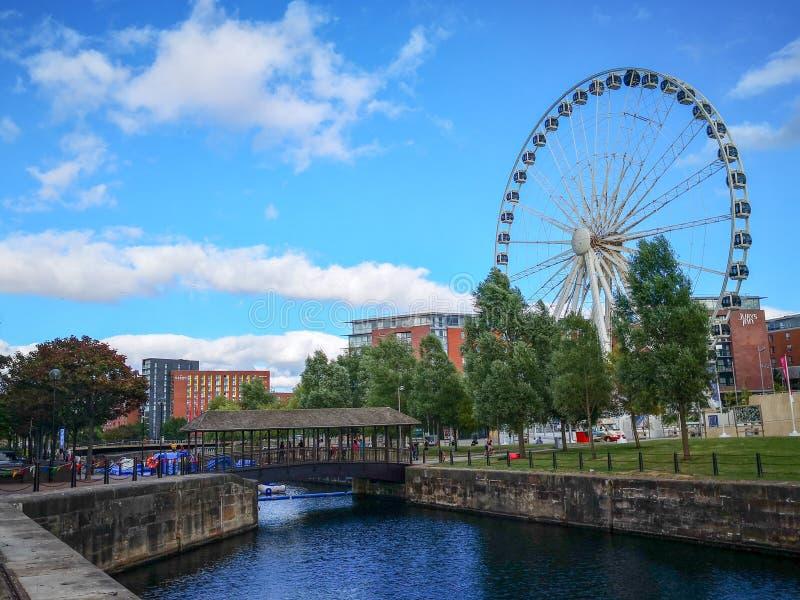 阿尔伯特船坞,老船坞在利物浦 免版税库存图片